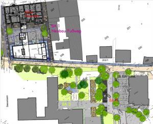 Plan Neugestaltung Rathausumfeld - Stadthallenvorplatz Osterhofen